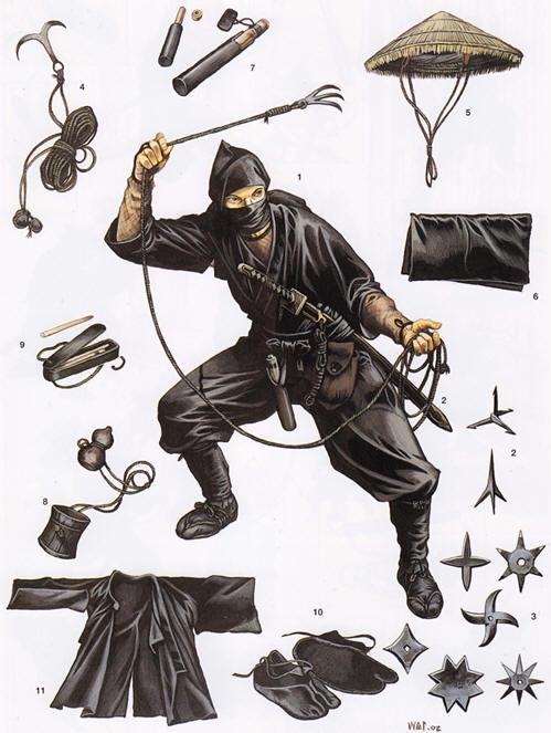 典型的な忍者にありがちなこと