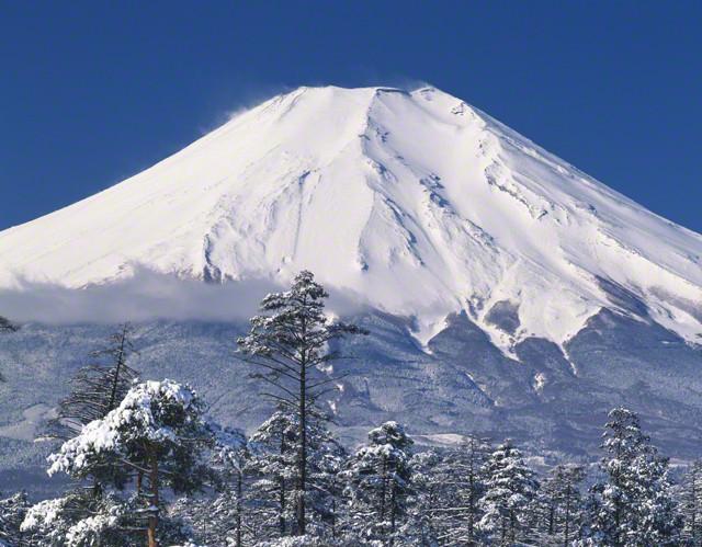 冬の富士山の画像1枚目!